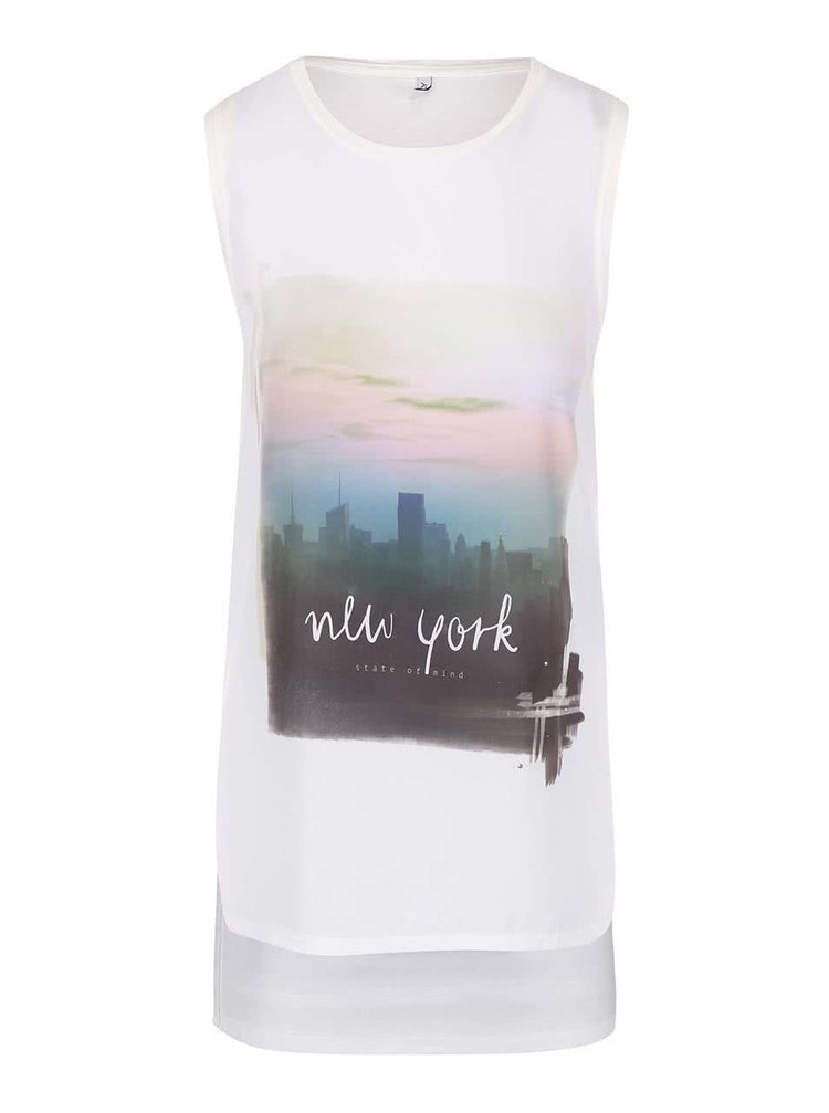 Tricou crem ONLY Look New cu print