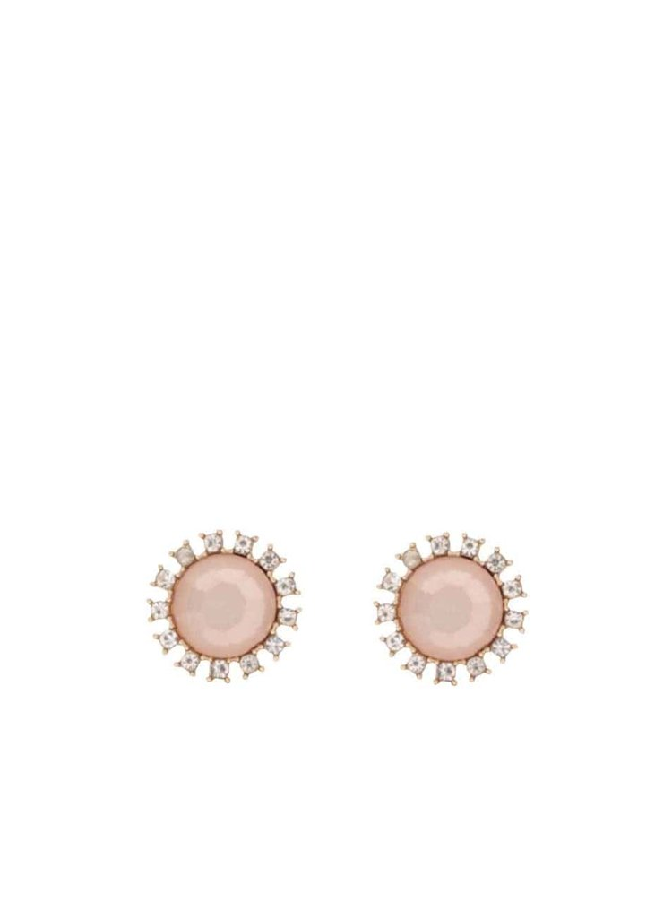 Cercei roz Pieces Pinna cu strasuri