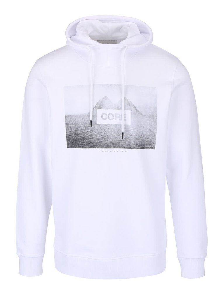 Hanorac alb Jack & Jones Oxcom cu print