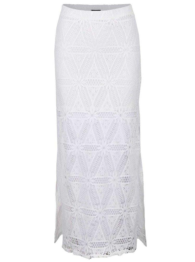 Bílá krajková maxi sukně TALLY WEiJL