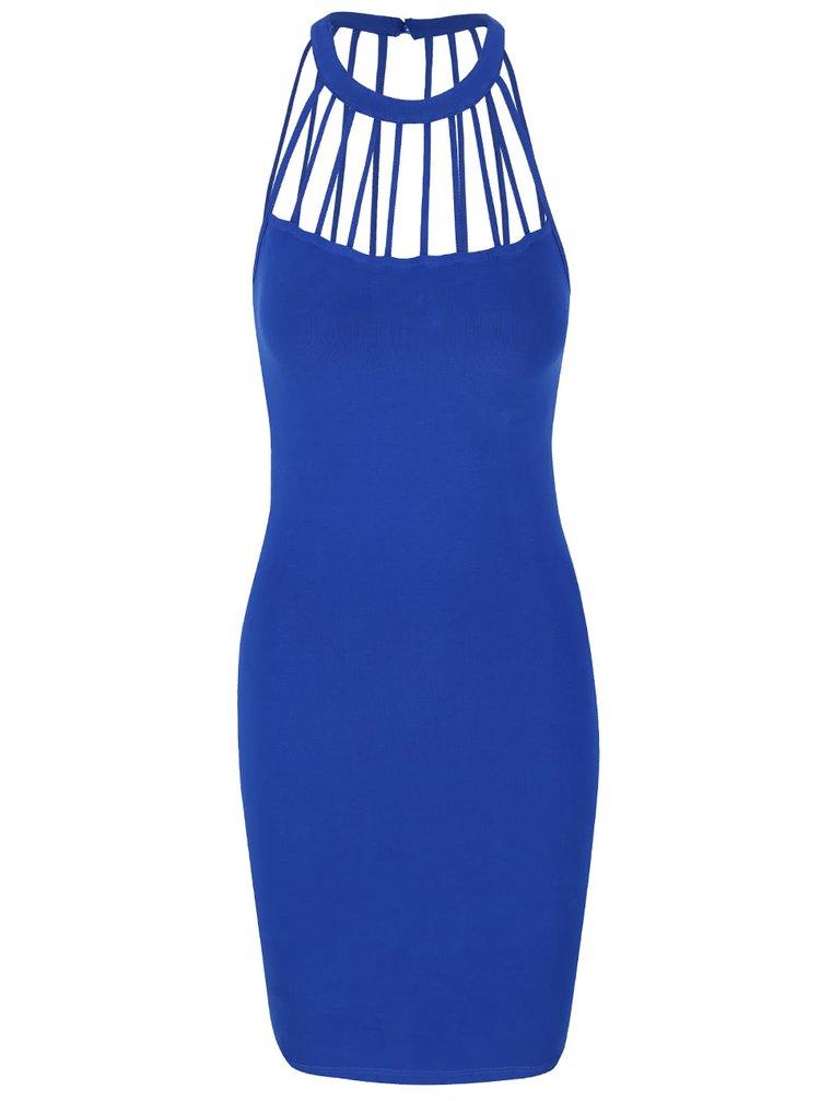Modré šaty s detailmi pri krku TALLY WEiJL