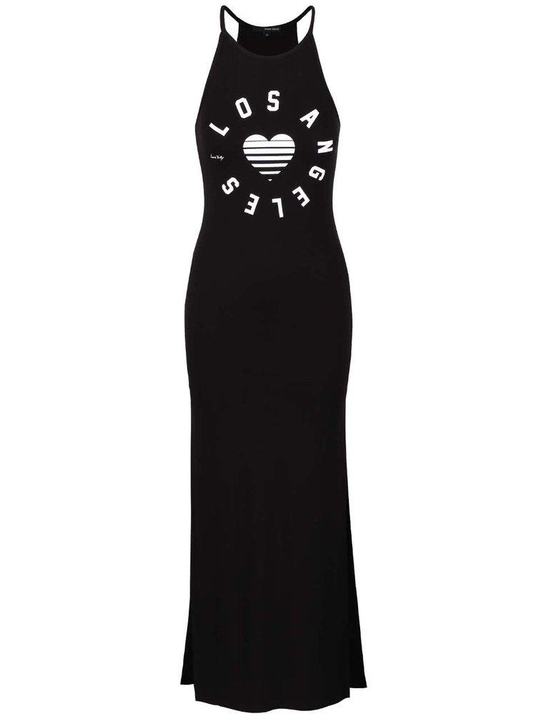 Čierne maxi šaty s potlačou TALLY WEiJL