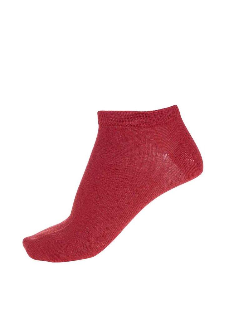 Červené členkové ponožky Jack & Jones Plain