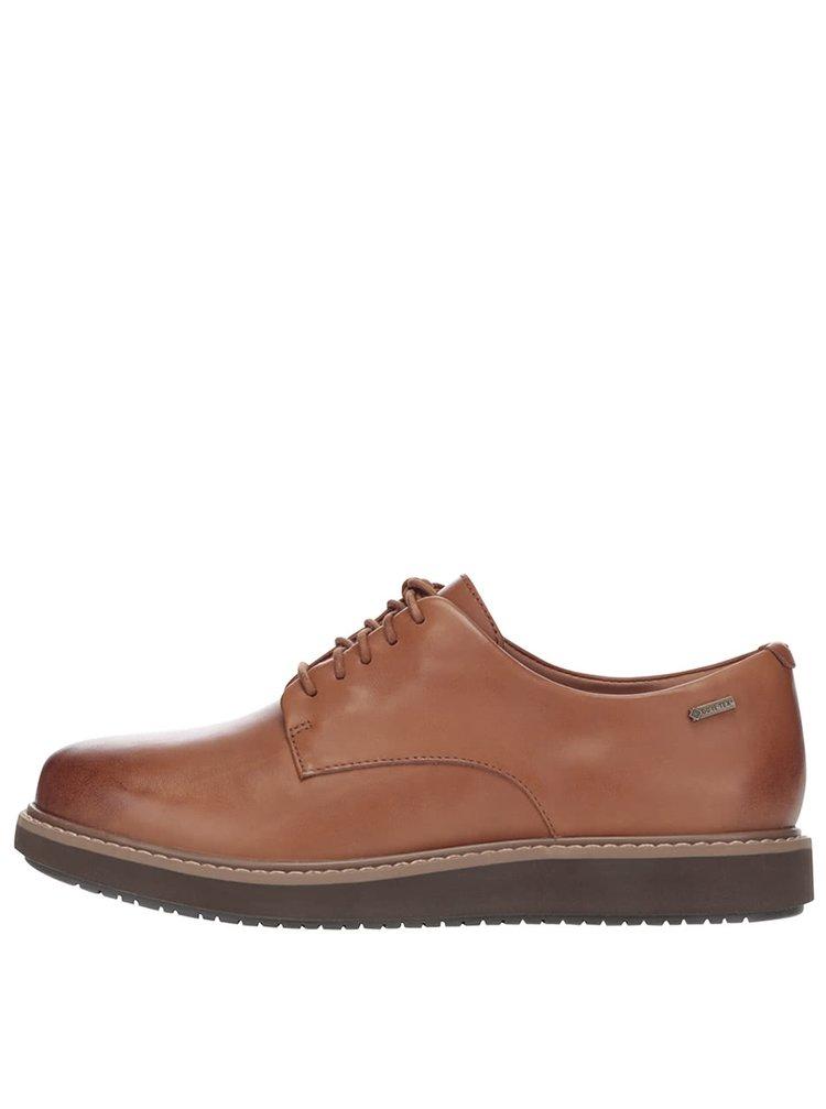 Pantofi maro Clarks Glick Darby GTX din piele