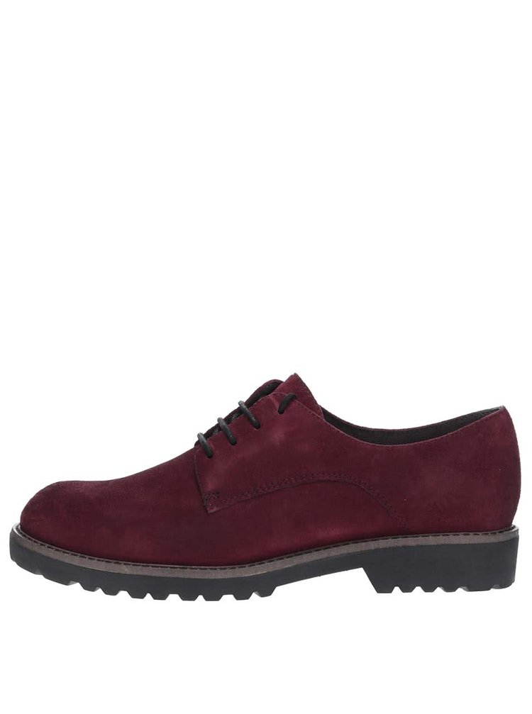 Pantofi vișinii Tamaris din piele