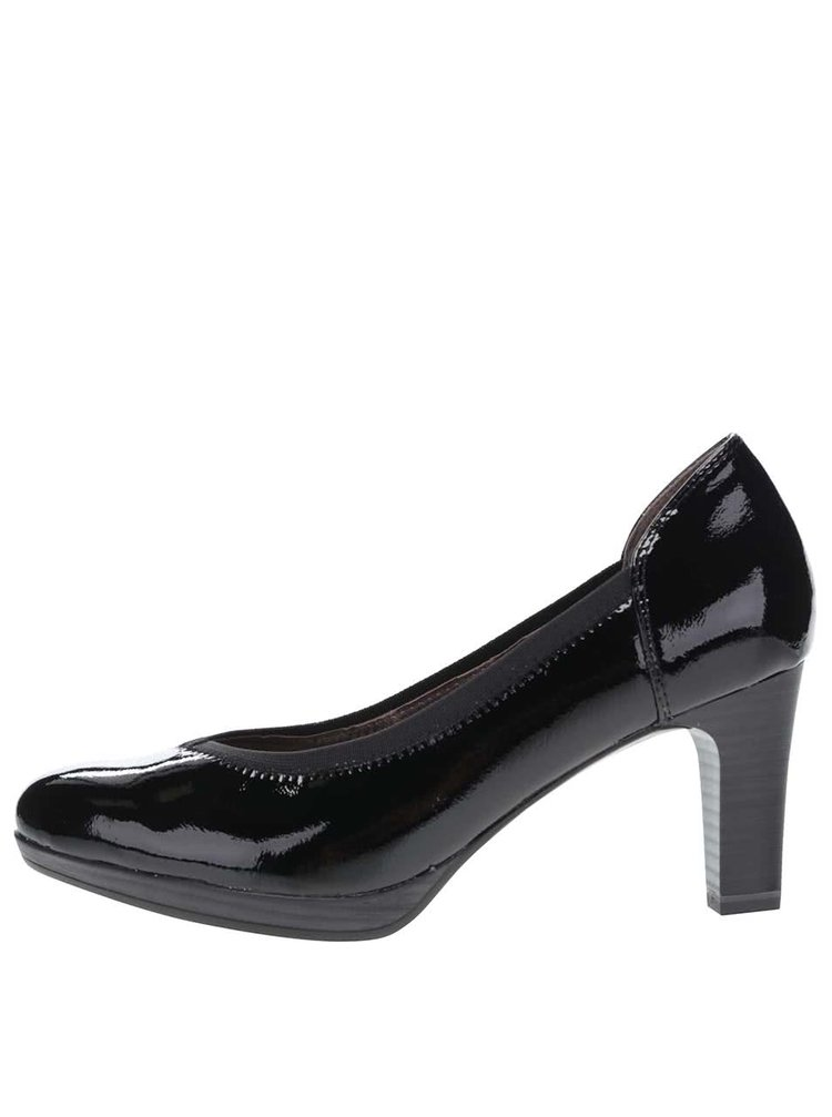 Pantofi cu toc negri Tamaris