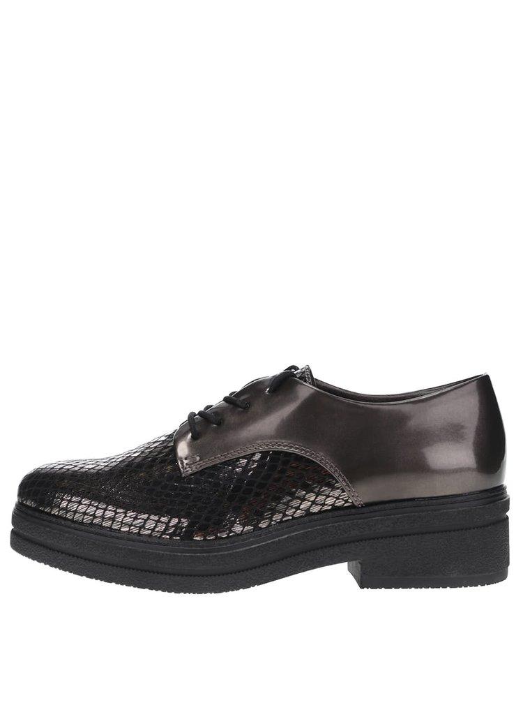 Pantofi bronz cu platformă Tamaris
