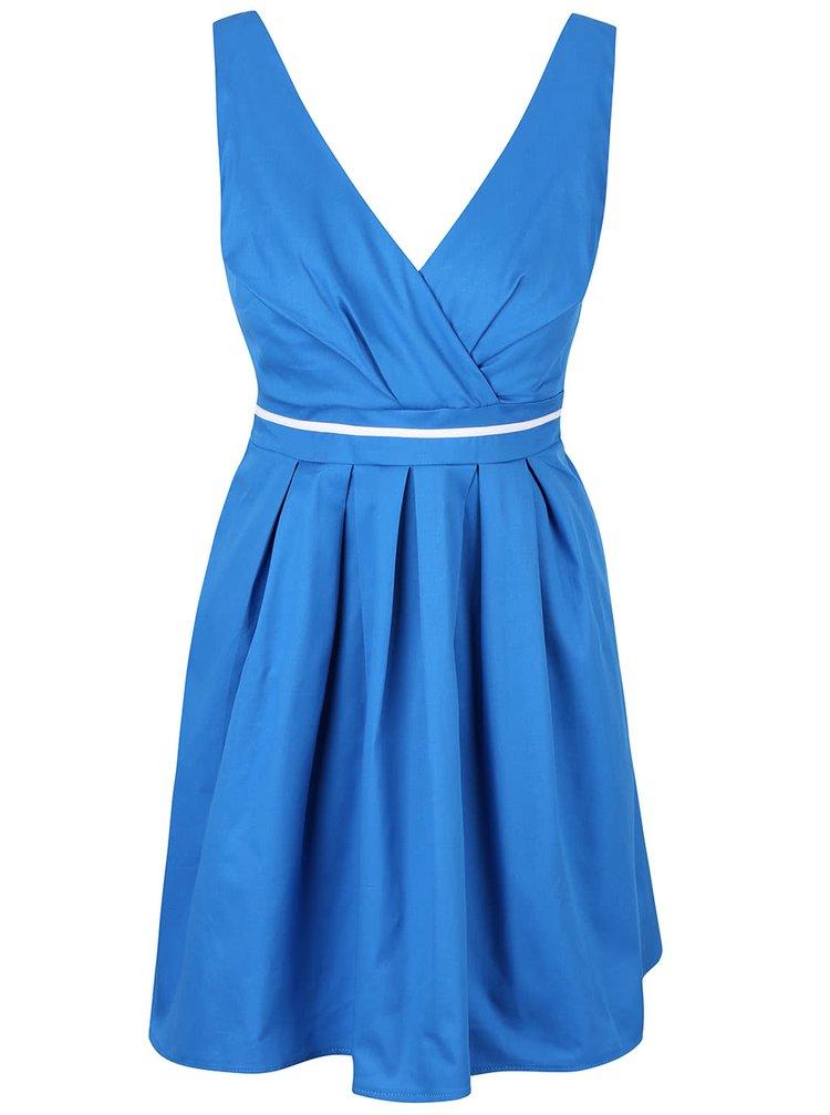 Modré šaty s bielym pruhom Apricot