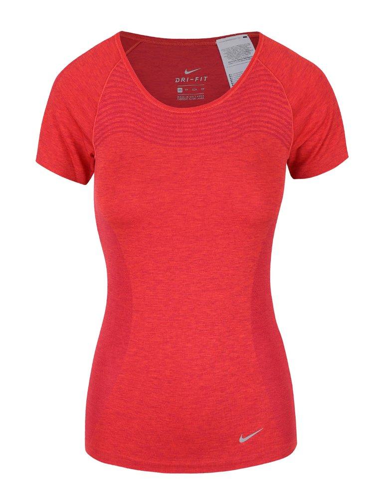 Červené dámske tričko Nike Dri-Fit Knit