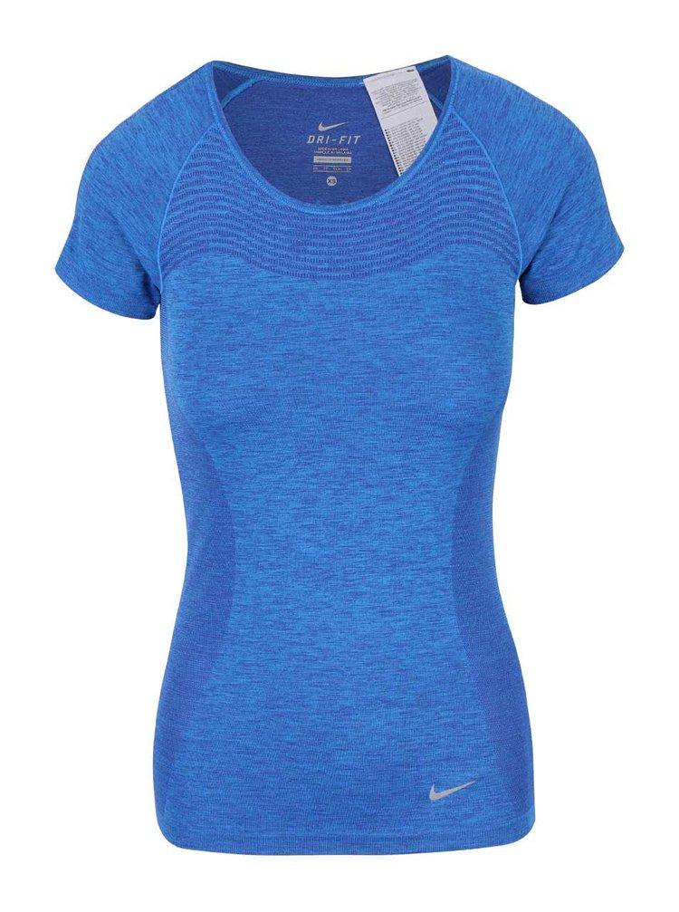 Modré dámske tričko Nike Dri-Fit Knit