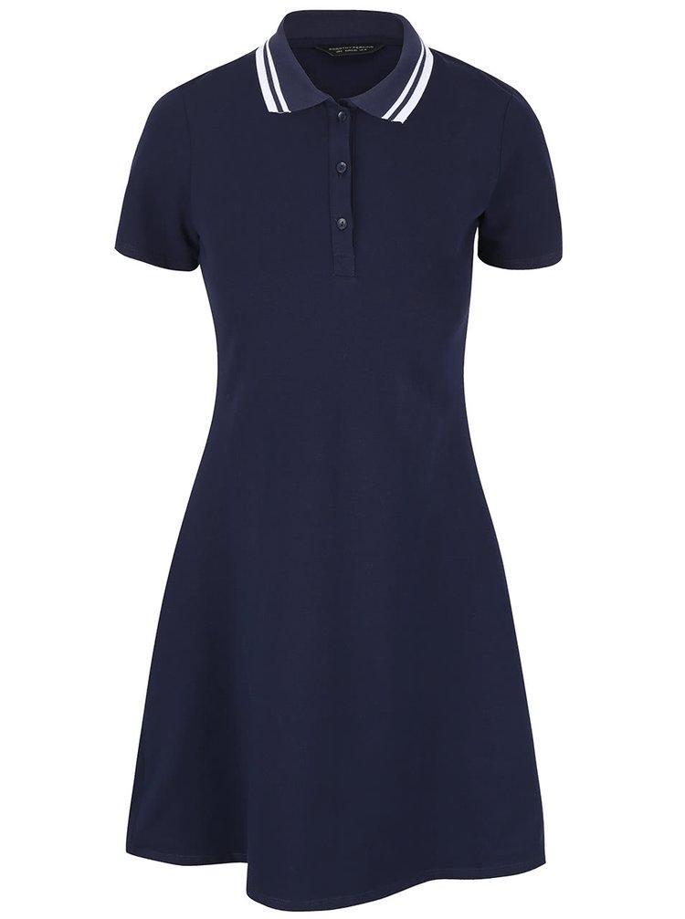 Tmavě modré polo šaty Dorothy Perkins