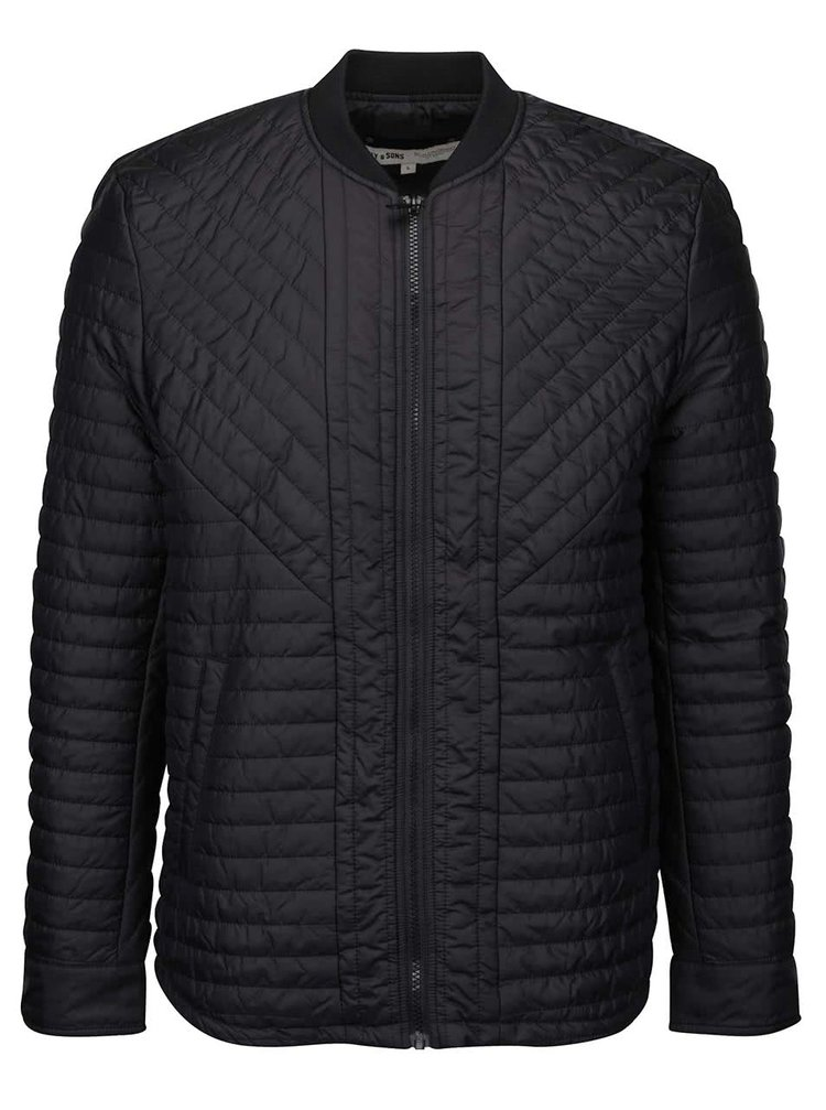 Jachetă neagră matlasată ONLY & SONS Jori