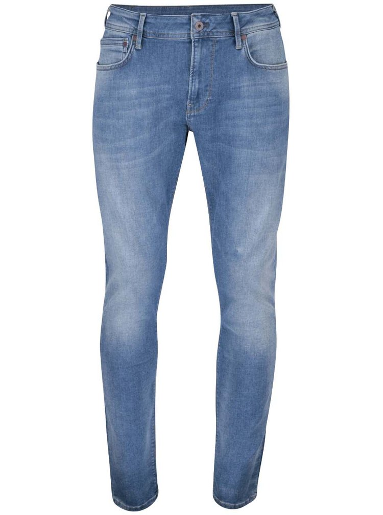 Blugi albaștri Pepe Jeans Stanley slim fit