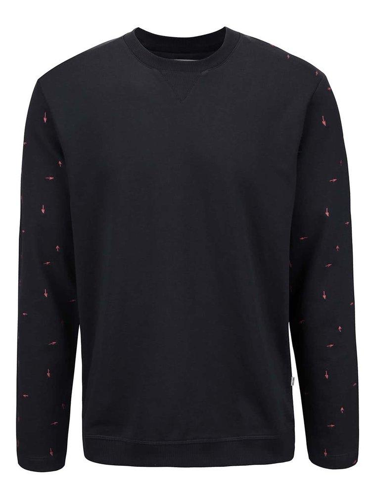 Bluză sport bleumarin ONLY & SONS Fulton cu imprimeu
