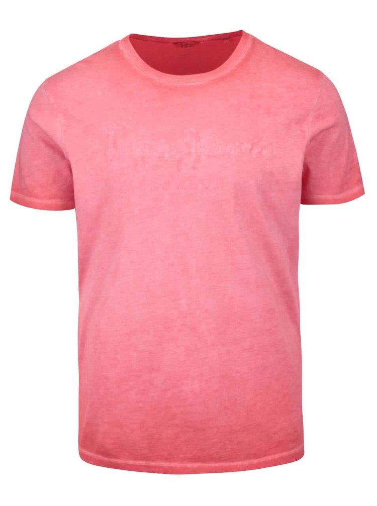 Tricou roșu Pepe Jeans Battersea din bumbac