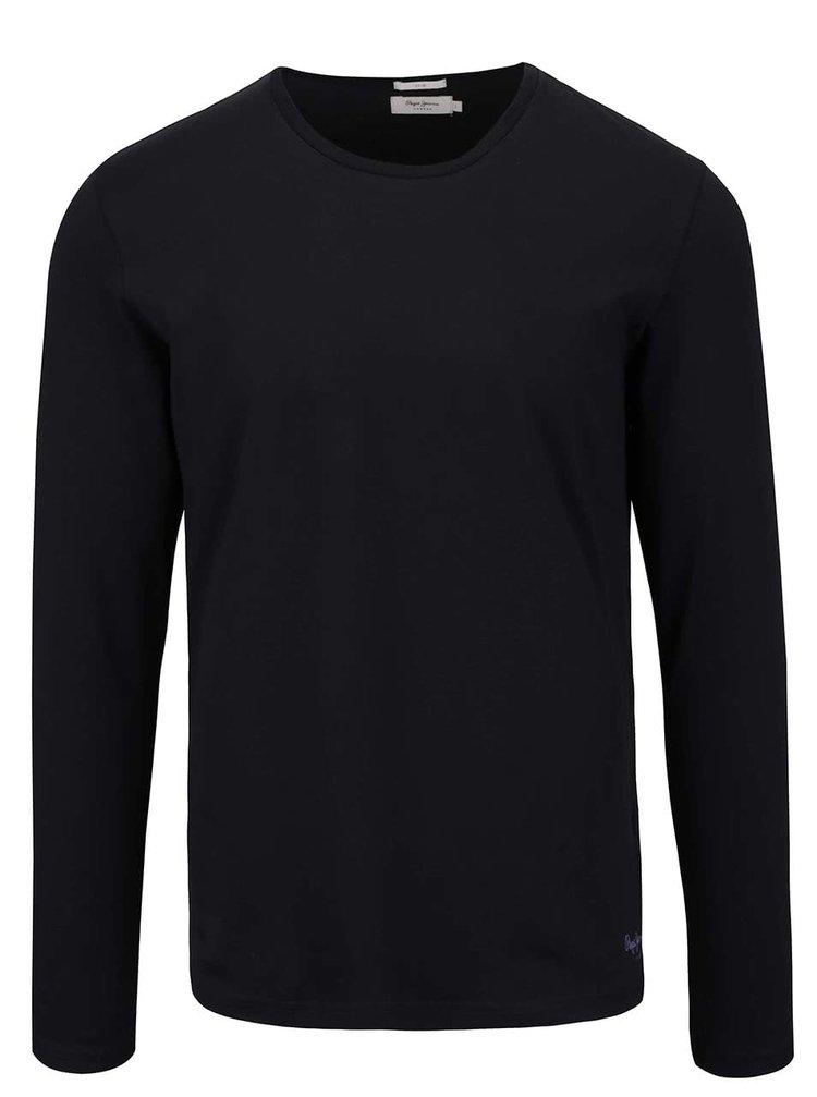 Bluză neagră Pepe Jeans Original basic L/S