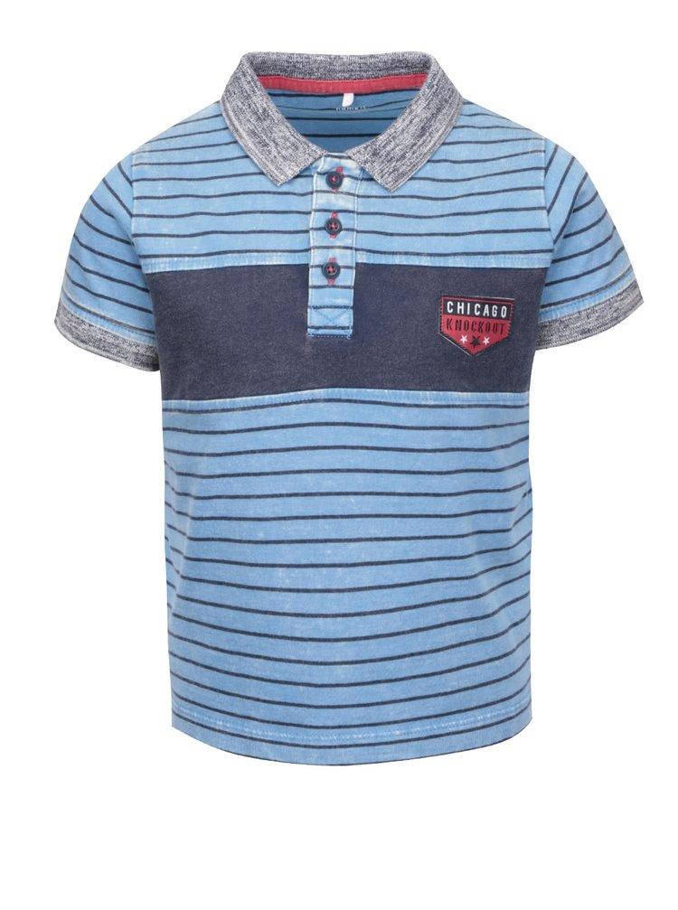 Tricou polo pentru băieți name it Kole din bumbac organic