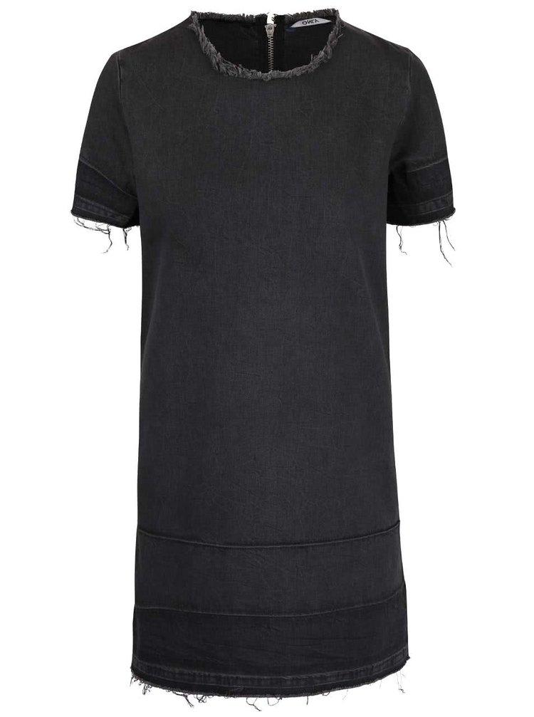 Tmavě šedé džínové šaty ONLY Anya