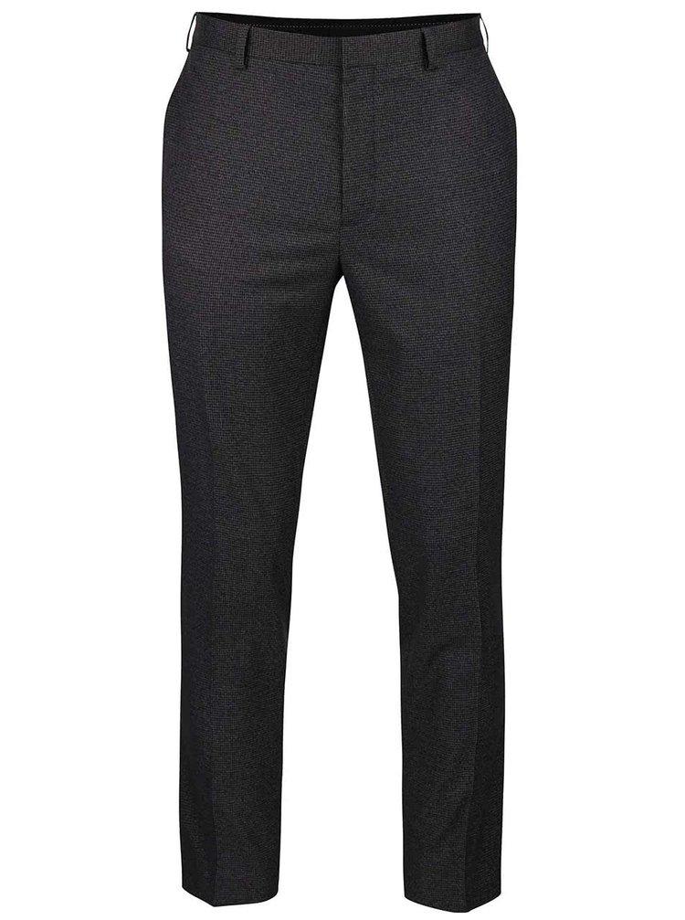 Tmavosivé skinny formálne nohavice Burton Menswear London
