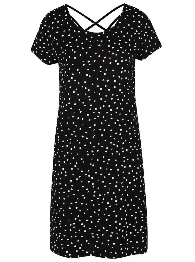 Černé vzorované šaty ONLY Bera