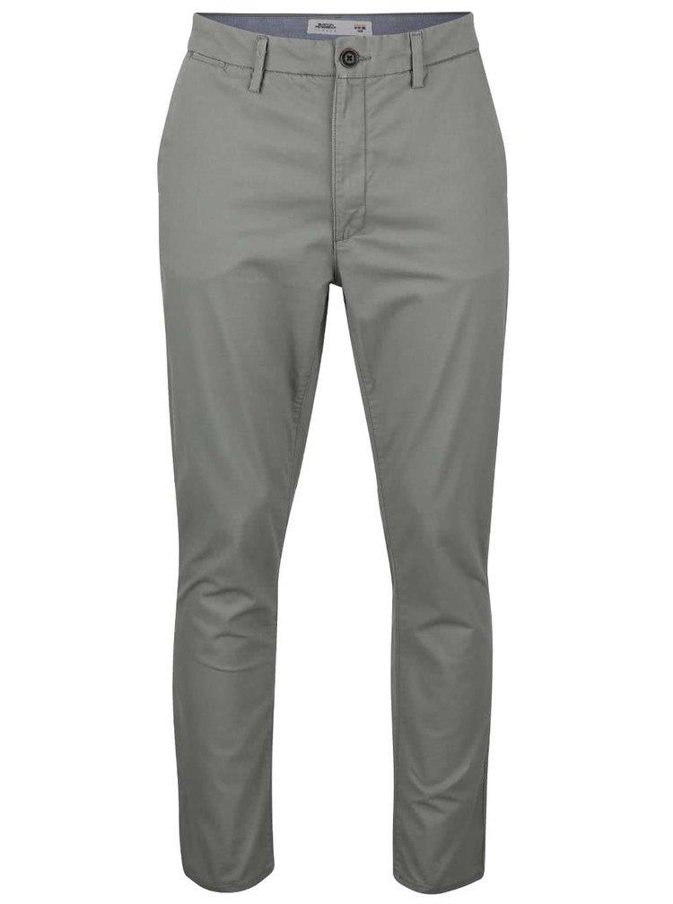 Sivé slim chino nohavice Burton Menswear London