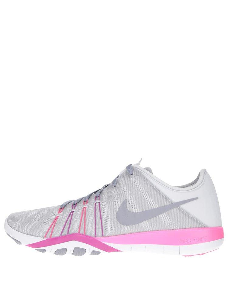 Šedo-růžové dámské tenisky Nike Free 7
