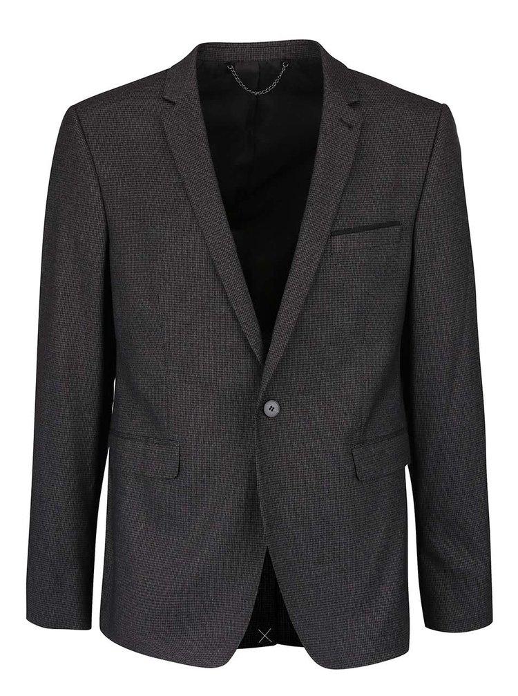 Tmavosivé skinny fit sako Burton Menswear London
