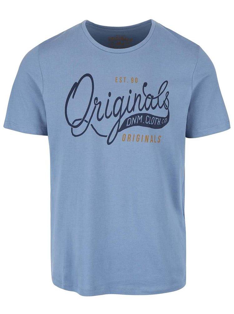 Modré triko s potiskem Jack & Jones Type