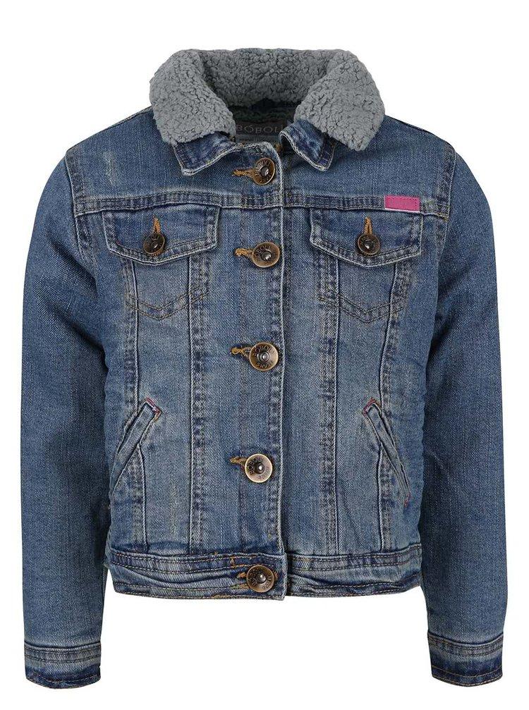 Jachetă din denim cu guler detașabil Boboli pentru fete