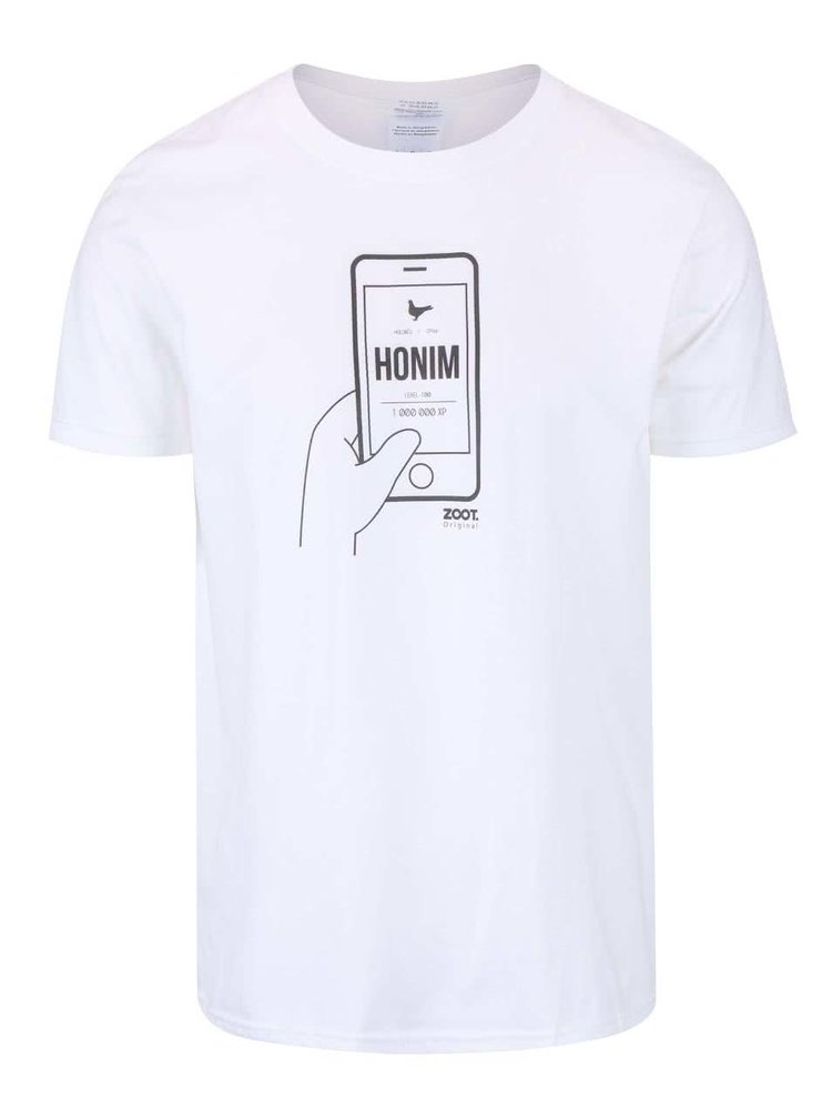 Bílé pánské triko ZOOT Originál Honím