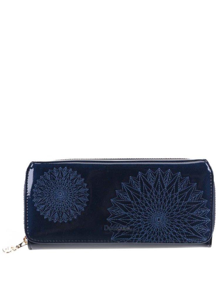 Modrá lesklá peňaženka Desigual Maria Katia