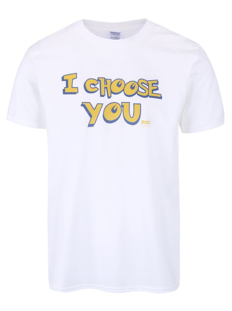 Tricou alb unisex ZOOT Original I Choose