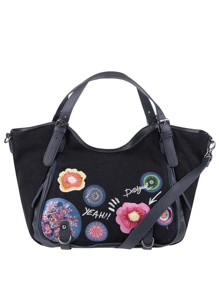 Tmavomodrá kabelka s farebnými vzormi Desigual Rotterdam Yeah