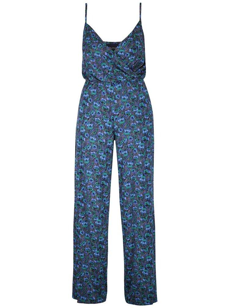 Salopetă albastră Miss Selfridge cu model floral