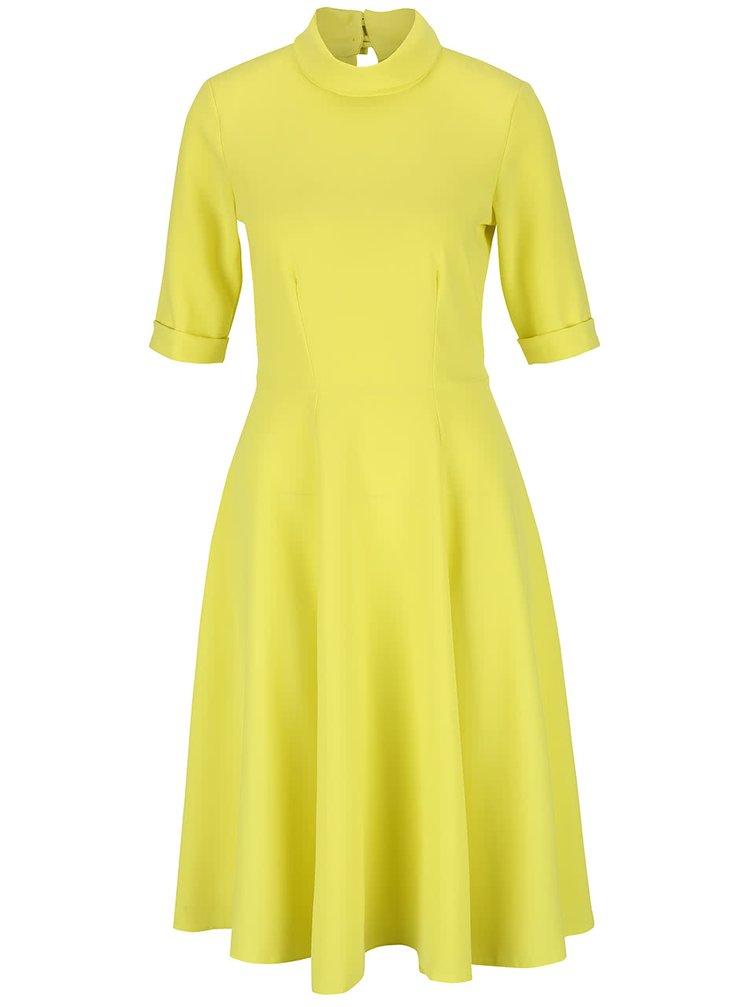 Žlté šaty so stojačikom Closet