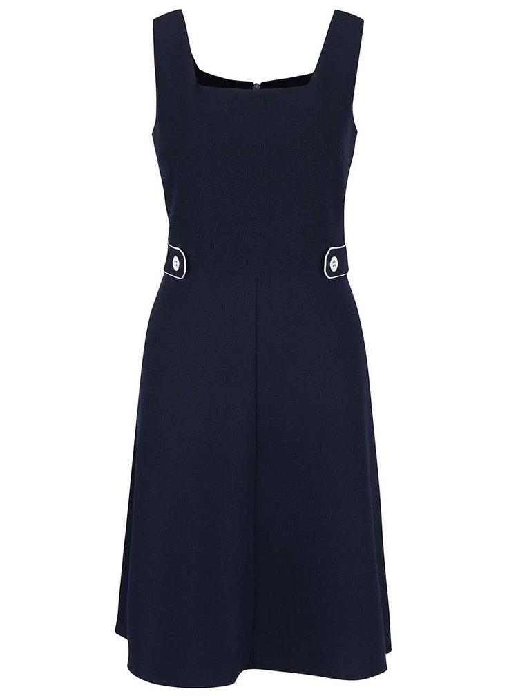 Tmavomodré šaty s hranatým výstrihom Dorothy Perkins