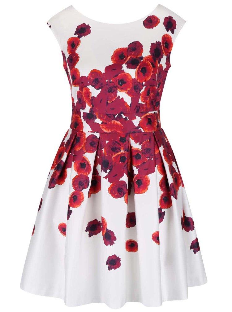 Rochie albă Closet cu model maci