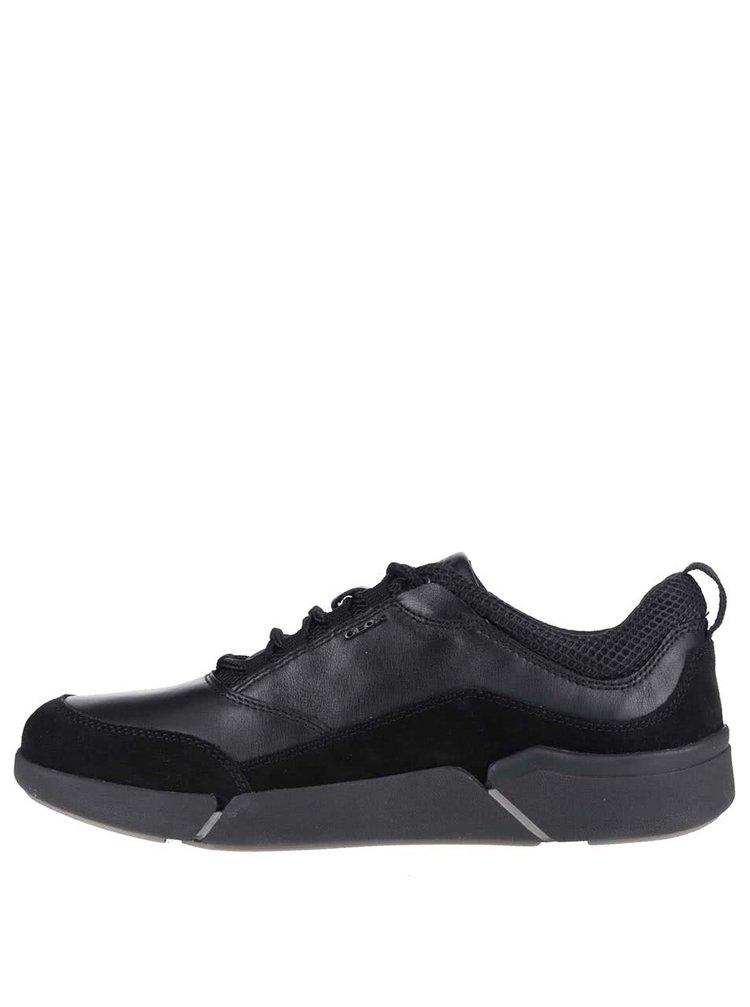 Pantofi sport negri din piele bărbătești Geox Ailand