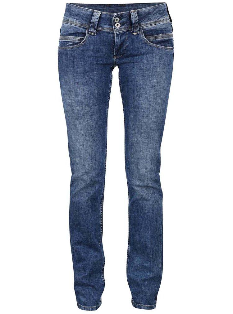 Modré dámské džíny s nízkým pasem Pepe Jeans Venus