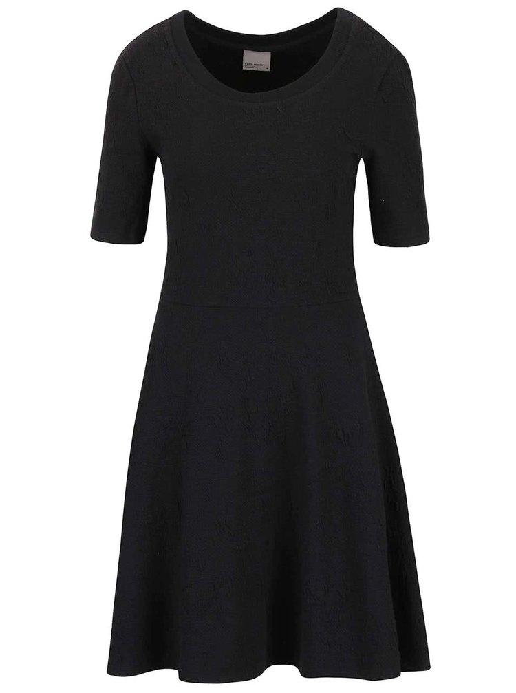 Čierne šaty so vzorom VERO MODA Marianne
