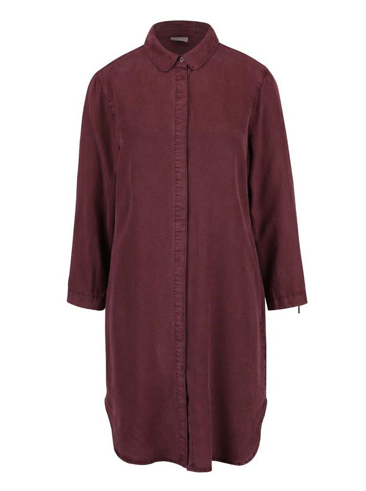 Vínová dlouhá košile VERO MODA Alexia
