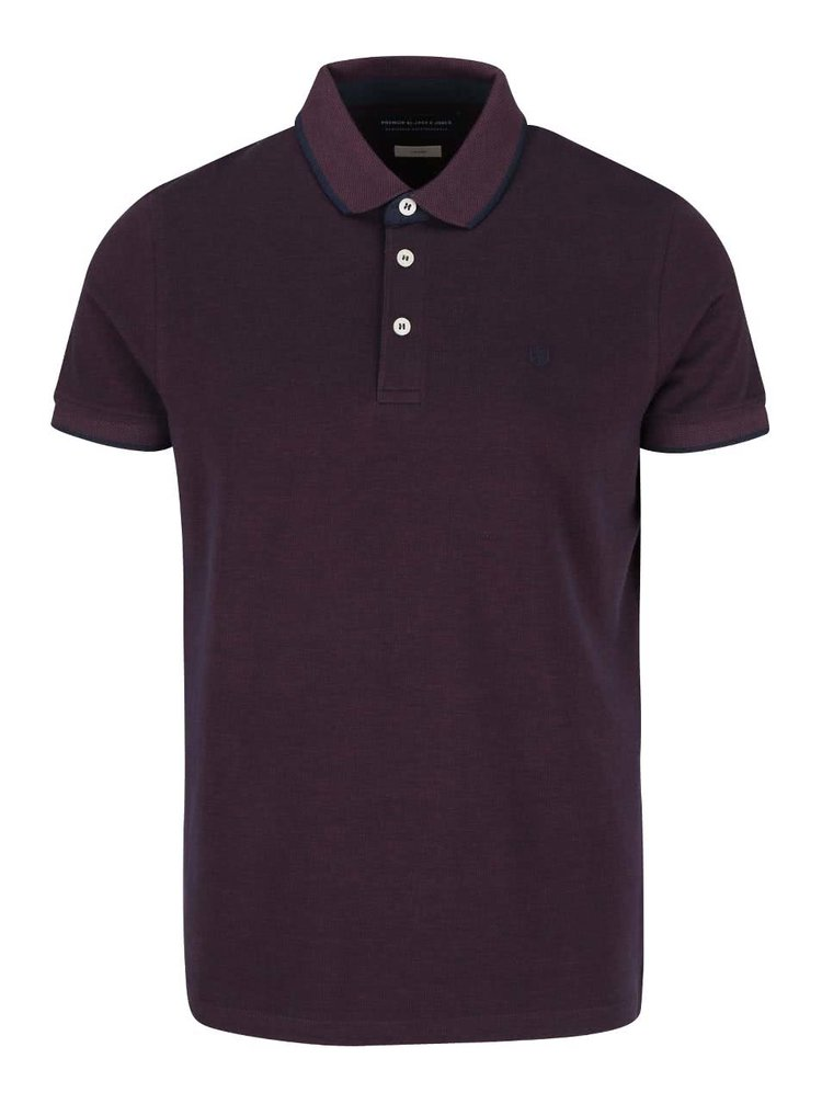 Tricou polo mov Jack & Jones Paulos din bumbac