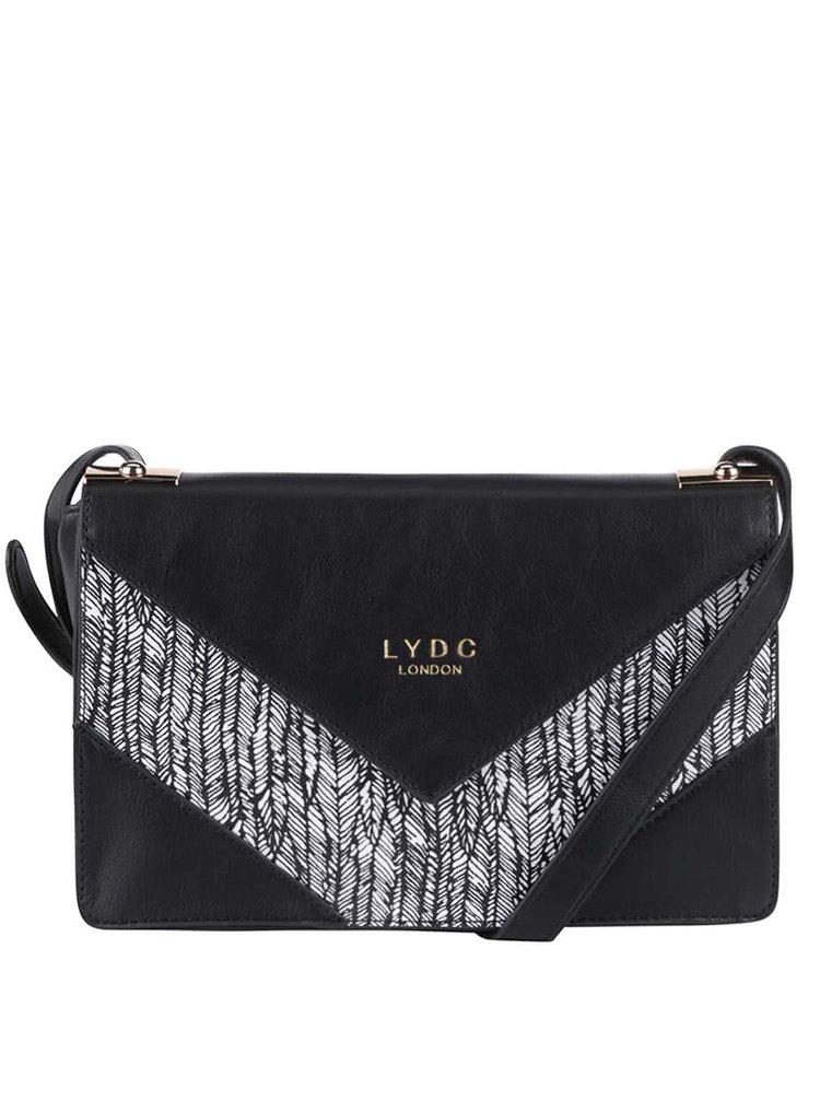 Geantă crossbody neagră cu model LYDC