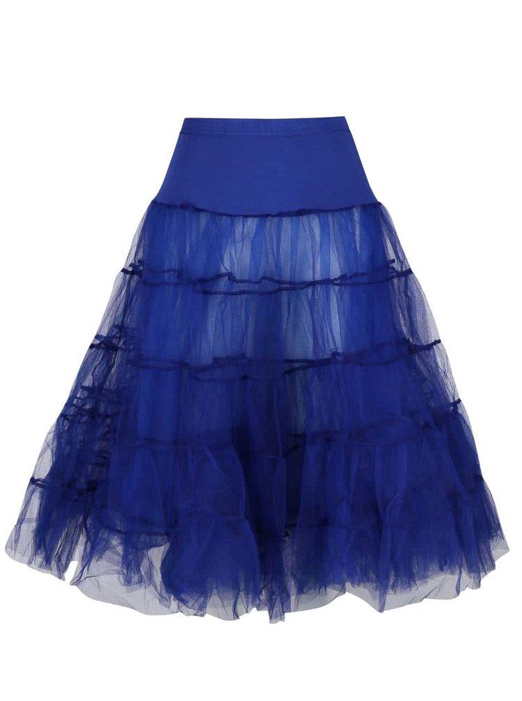 Fustă albastră Dolly & Dotty Petticoat cu volane
