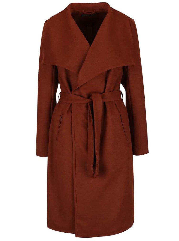 Hnědý kabát ONLY New Phoebe