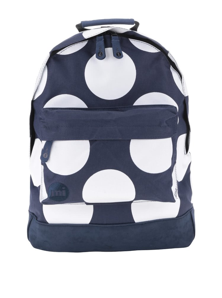 Bílo-modrý dámský batoh s puntíky Mi-Pac All Polka XL