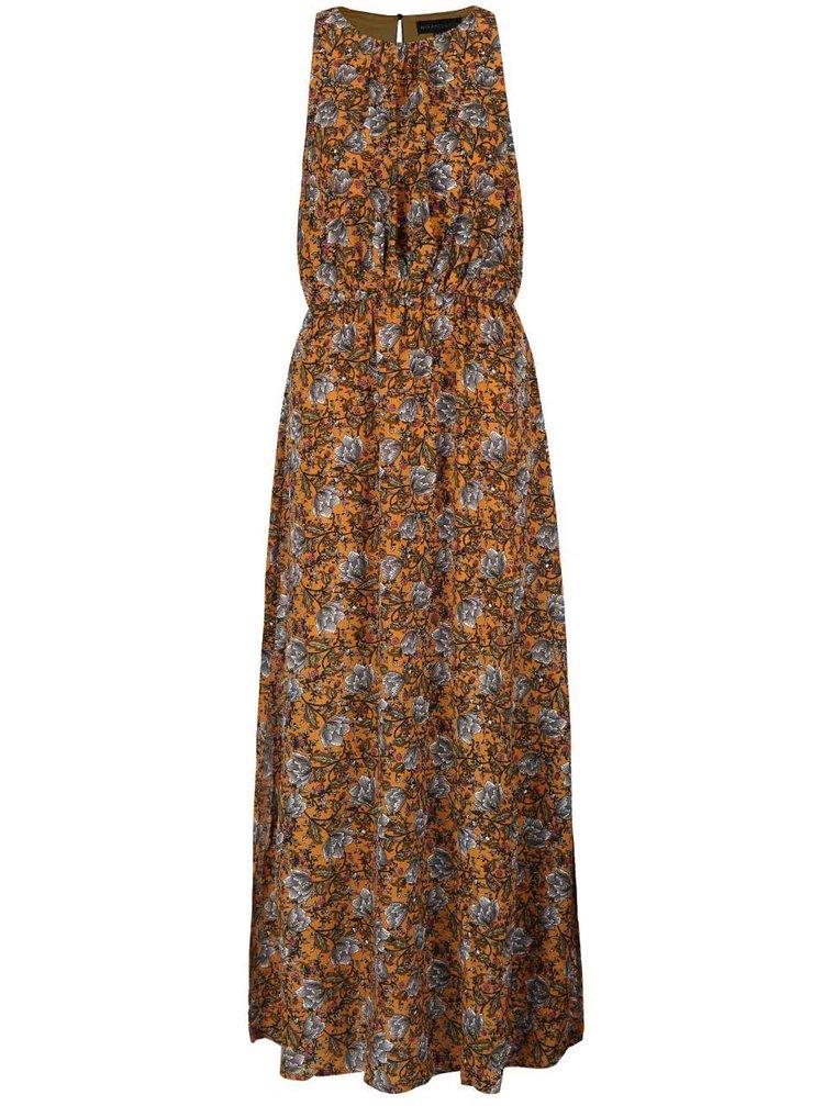 Rochie maxi portocalie Mela London cu model