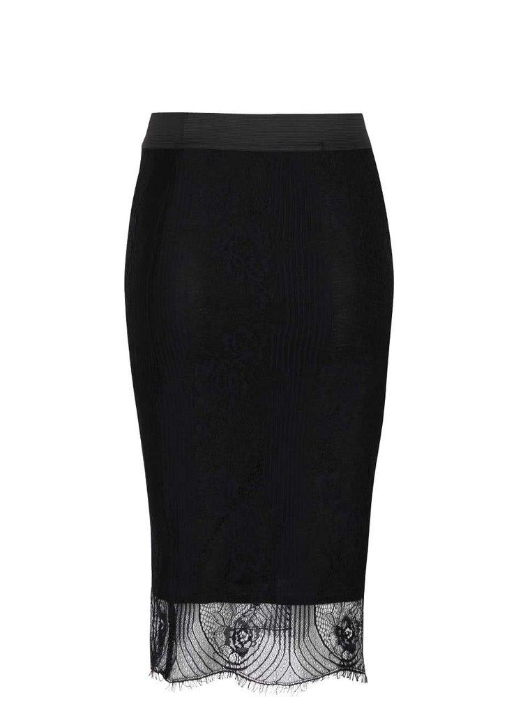 Čierna čipkovaná sukňa TALLY WEiJL