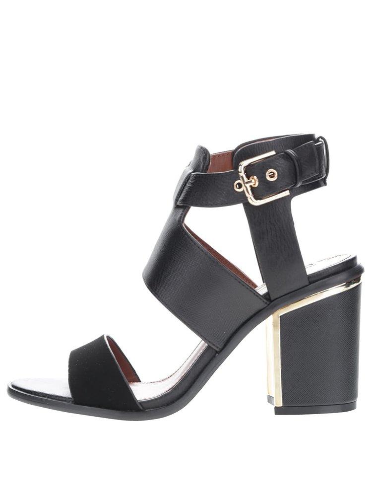 Černé sandály na podpatku Miss Selfridge Sydney