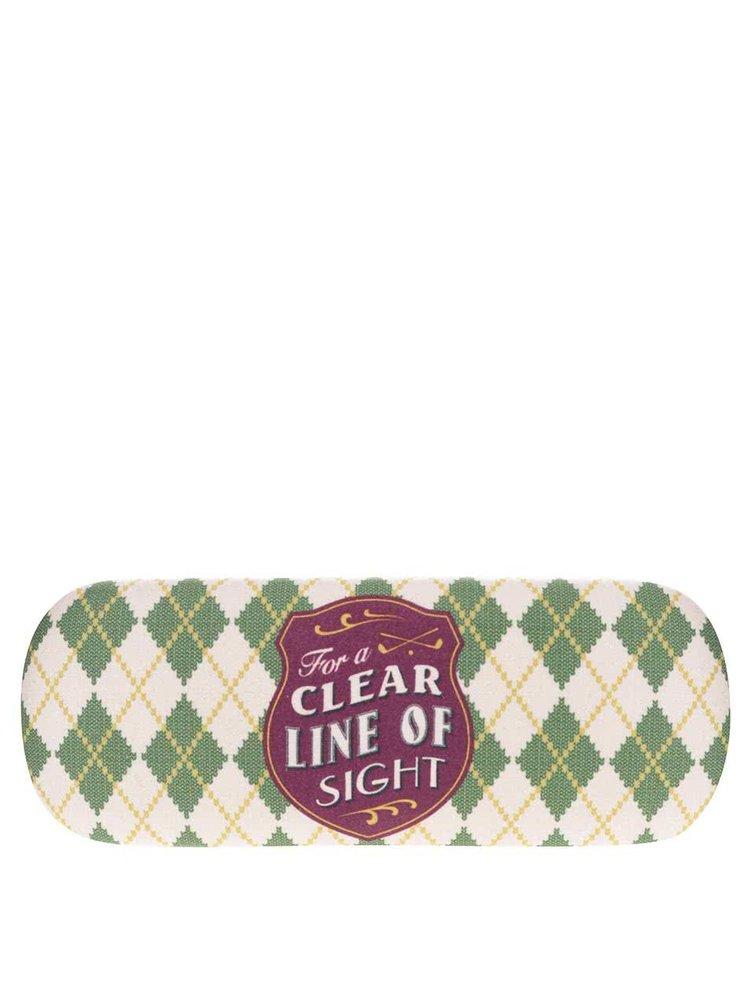 Krémovo-zelené pouzdro na brýle CGB
